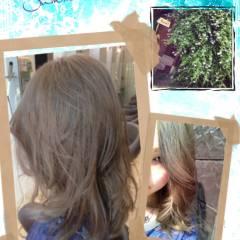 セミロング 大人かわいい ブリーチ コンサバ ヘアスタイルや髪型の写真・画像