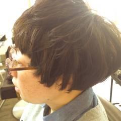 ナチュラル ショート マッシュ ヘアスタイルや髪型の写真・画像