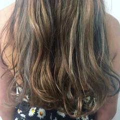グラデーションカラー セミロング 外国人風 ハイライト ヘアスタイルや髪型の写真・画像