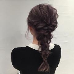 フェミニン ヘアアレンジ ロング ディズニー ヘアスタイルや髪型の写真・画像