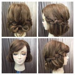 波ウェーブ ヘアアレンジ ボブ セミロング ヘアスタイルや髪型の写真・画像