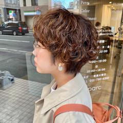 大人かわいい 小顔ショート ショート ナチュラル ヘアスタイルや髪型の写真・画像