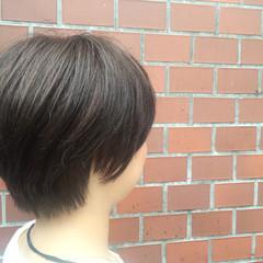 ショート ストリート アッシュ 暗髪 ヘアスタイルや髪型の写真・画像
