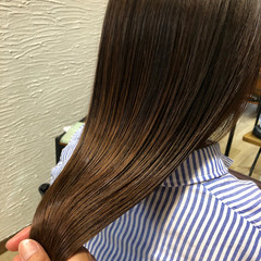 ナチュラル 艶髪 ストレート 縮毛矯正 ヘアスタイルや髪型の写真・画像