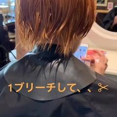 ミルクティー グレージュ ショート アッシュ ヘアスタイルや髪型の写真・画像