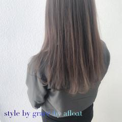 アッシュ フェミニン グレージュ ブラウン ヘアスタイルや髪型の写真・画像