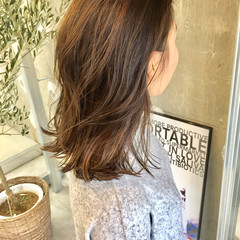 ハイライト ストリート ウェットヘア ミディアム ヘアスタイルや髪型の写真・画像