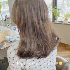 透明感 セミディ ミディアムヘアー 透明感カラー ヘアスタイルや髪型の写真・画像