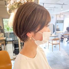 ヘアアレンジ アンニュイほつれヘア ショート ショートヘア ヘアスタイルや髪型の写真・画像