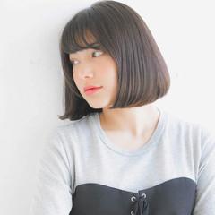 グレージュ 黒髪 フェミニン 大人かわいい ヘアスタイルや髪型の写真・画像
