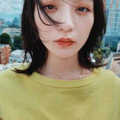 ミディアムレイヤー ストリート ウルフカット ウルフ ヘアスタイルや髪型の写真・画像