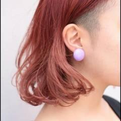 ピンク ガーリー ストリート ミディアム ヘアスタイルや髪型の写真・画像