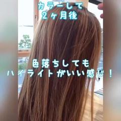 外国人風 ベージュ レイヤースタイル 極細ハイライト ヘアスタイルや髪型の写真・画像