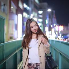 ブラウン カール ガーリー ストリート ヘアスタイルや髪型の写真・画像