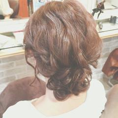 編み込み 大人かわいい ゆるふわ まとめ髪 ヘアスタイルや髪型の写真・画像