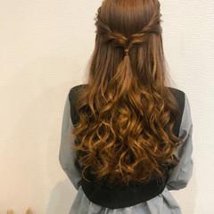ハーフアップ ロング ヘアアレンジ 結婚式 ヘアスタイルや髪型の写真・画像