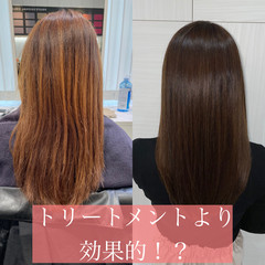 モテ髪 セミロング 縮毛矯正 ナチュラルブラウンカラー ヘアスタイルや髪型の写真・画像