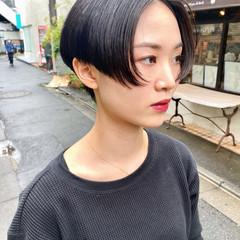 小顔ショート ショートヘア 黒髪ショート ショートボブ ヘアスタイルや髪型の写真・画像