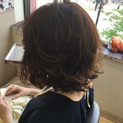 簡単ヘアアレンジ ウェットヘア ショート ボブ ヘアスタイルや髪型の写真・画像