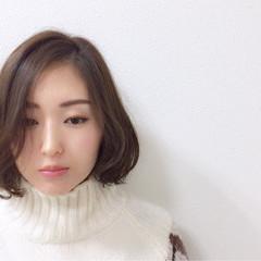 デジタルパーマ ボブ ニュアンス ゆるふわ ヘアスタイルや髪型の写真・画像