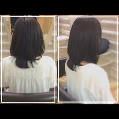 セミロング 髪質改善 大人ヘアスタイル ナチュラル ヘアスタイルや髪型の写真・画像