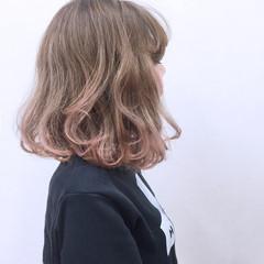 渋谷系 ストリート グラデーションカラー ピンク ヘアスタイルや髪型の写真・画像