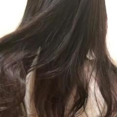 ストリート ラベンダーアッシュ パープル ロング ヘアスタイルや髪型の写真・画像