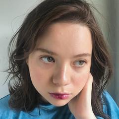 色気 ミディアム アンニュイほつれヘア 透明感 ヘアスタイルや髪型の写真・画像