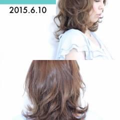 モテ髪 夏 外ハネ ミディアム ヘアスタイルや髪型の写真・画像