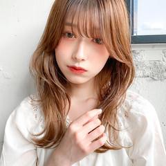 ベージュ ゆるふわパーマ ナチュラル デジタルパーマ ヘアスタイルや髪型の写真・画像