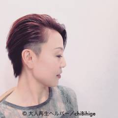 ウェットヘア ビジュアル系 ショート 坊主 ヘアスタイルや髪型の写真・画像