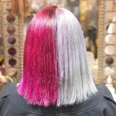 ストリート Wカラー ボブ ツートンカラー ヘアスタイルや髪型の写真・画像