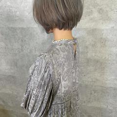 ショートヘア ショートボブ アンニュイほつれヘア ショート ヘアスタイルや髪型の写真・画像