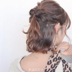 コテ巻き ゆるふわ ヘアオイル エレガント ヘアスタイルや髪型の写真・画像