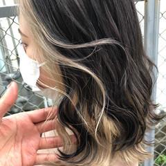 ウルフカット ハイライト 外国人風 ミルクティーベージュ ヘアスタイルや髪型の写真・画像
