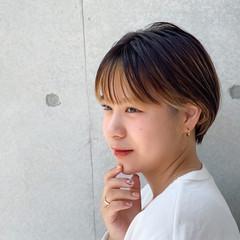 インナーカラー ベリーショート ナチュラル ミニボブ ヘアスタイルや髪型の写真・画像