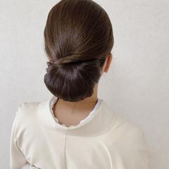 セミロング 結婚式 着物 シニヨン ヘアスタイルや髪型の写真・画像
