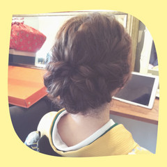 ヘアアレンジ 着物 セミロング 大人かわいい ヘアスタイルや髪型の写真・画像