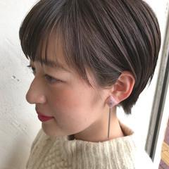 大人女子 ミルクティー ショート ショートボブ ヘアスタイルや髪型の写真・画像