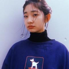 モード 編み込み ヘアアレンジ ボブ ヘアスタイルや髪型の写真・画像