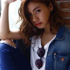 大人かわいい 外国人風 ハイライト グラデーションカラー ヘアスタイルや髪型の写真・画像