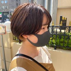 小顔ショート アンニュイ ナチュラル ショートヘア ヘアスタイルや髪型の写真・画像