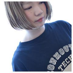 デート 女子会 リラックス ボブ ヘアスタイルや髪型の写真・画像
