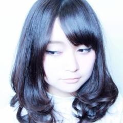 ナチュラル 黒髪 ミディアム コンサバ ヘアスタイルや髪型の写真・画像
