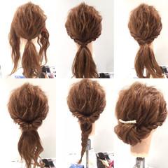 ヘアアレンジ ロング 編み込み ショート ヘアスタイルや髪型の写真・画像