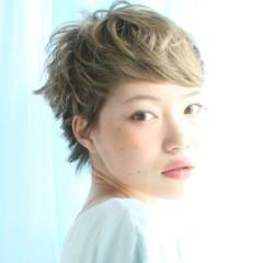 愛され ガーリー ショート モテ髪 ヘアスタイルや髪型の写真・画像
