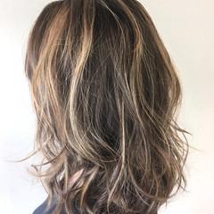 外国人風 ストリート セミロング 外国人風カラー ヘアスタイルや髪型の写真・画像