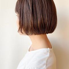 ナチュラル ミニボブ 切りっぱなしボブ 大人かわいい ヘアスタイルや髪型の写真・画像