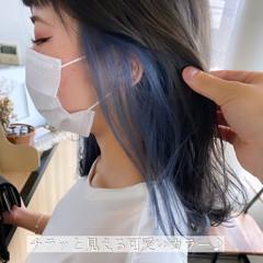 ナチュラル ブリーチオンカラー インナーカラー ブルージュ ヘアスタイルや髪型の写真・画像