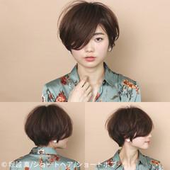 ボブ ナチュラル うざバング 女子力 ヘアスタイルや髪型の写真・画像